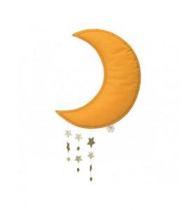 Mobile lune jaune avec étoiles