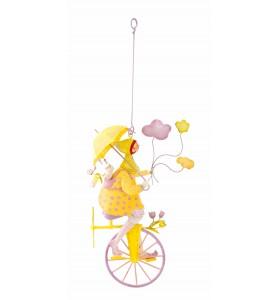 Triplette à l'ombrelle jaune