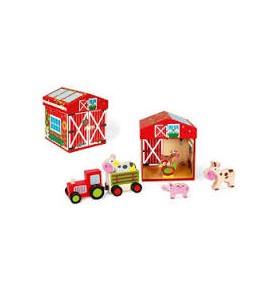 Boite à jouets Ferme 2 en 1