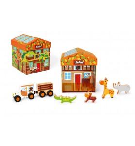 Boite à jouets Safari 2 en 1