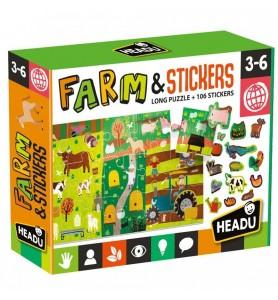 Puzzle + Stickers The Farm