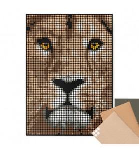 Dot on art wild lion