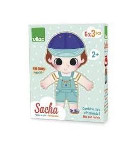 Puzzle Sacha à habiller