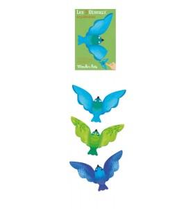 Oiseaux équilibristes bleus...