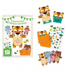 Invitations animaux sauvages