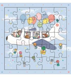 Carte puzzle annivers'air...