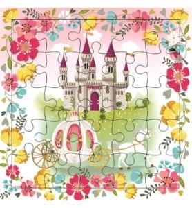 Carte puzzle Cendrillon