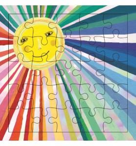 Carte puzzle rayon de soleil