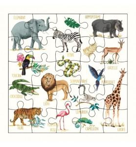 Carte puzzle imagier de la...