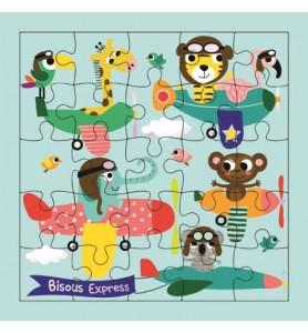 Carte puzzle bisous express