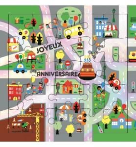 Carte puzzle joyeux...