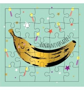 Carte puzzle bananniversaire