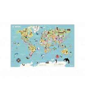 Carte du monde magnétique...