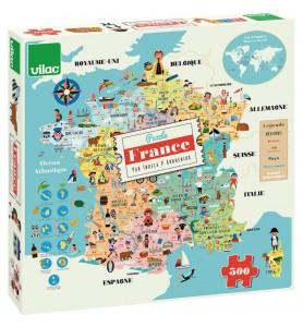 Puzzle 300 pièces carte de...