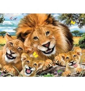 Puzzle 3D 63 pièces lion