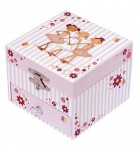 Boite à bijoux musical cube...