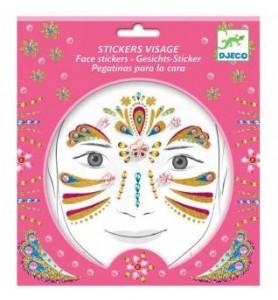 Stickers visage princesse or