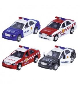 Voiture police et pompier