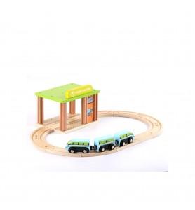 Gare avec voie et trains