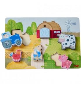 Puzzle en bois petite ferme