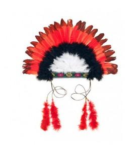 Bandeau indien rouge et noir