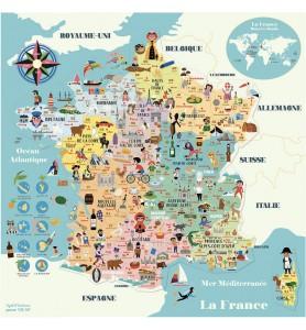 Carte de France magnétique...