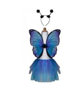Set de papillon bleu et...