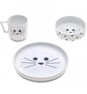 Coffret repas en porcelaine...